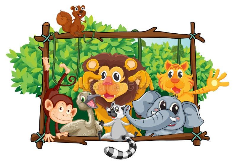Divers animaux illustration de vecteur