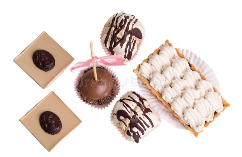 Divers desserts français délicieux photos stock