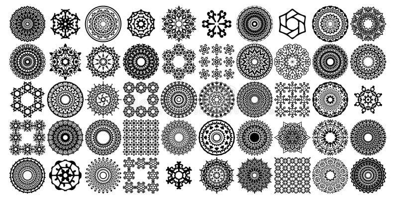Divers ensembles de collections de mandala Style de Boho Des dossiers de vecteur peuvent ?tre appliqu?s pour imprimer et des m?di images libres de droits