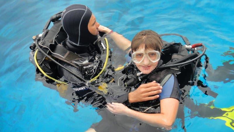Divers in equipment stock photos