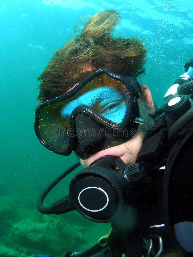 Divers Face stock image