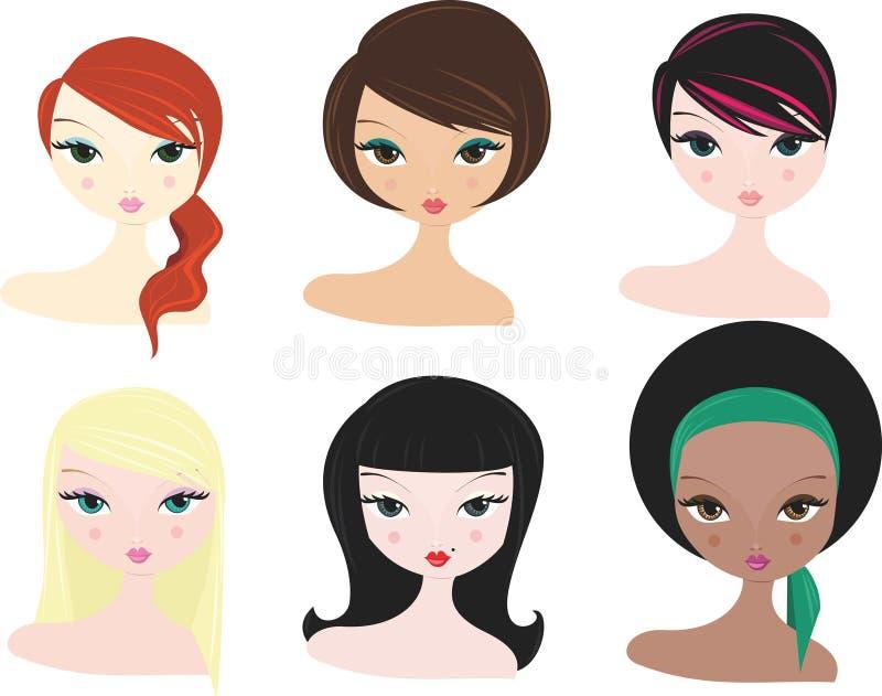 Divers femmes illustration stock
