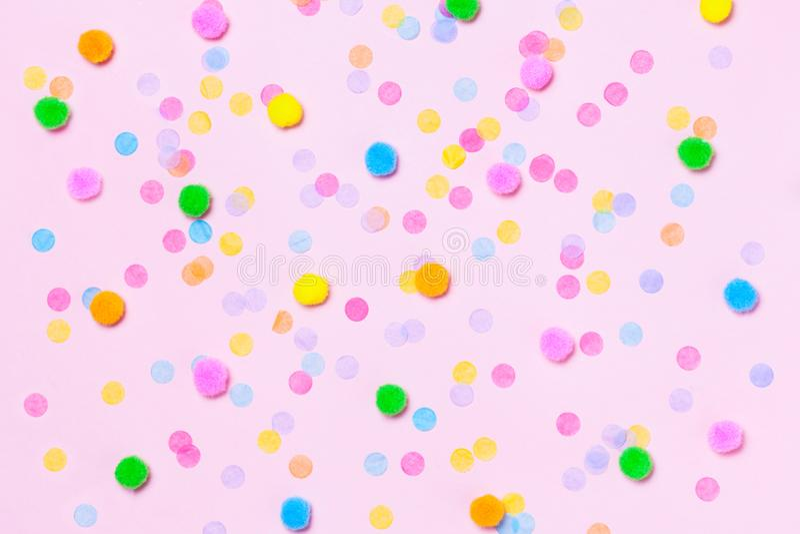 Divers fond coloré de confettis photographie stock libre de droits