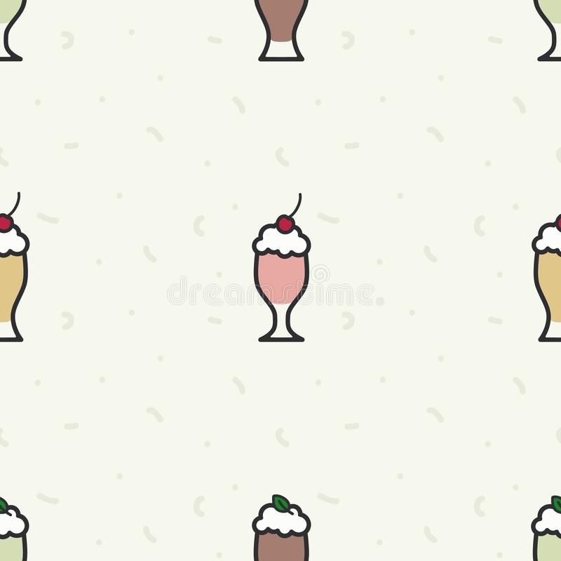 Divers fond de milkshakes illustration stock