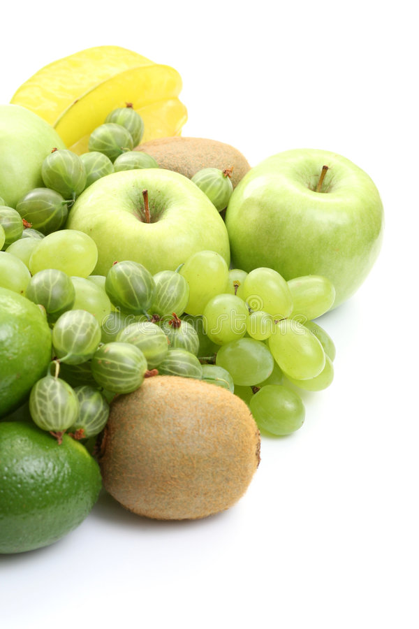 Divers fruits verts images stock