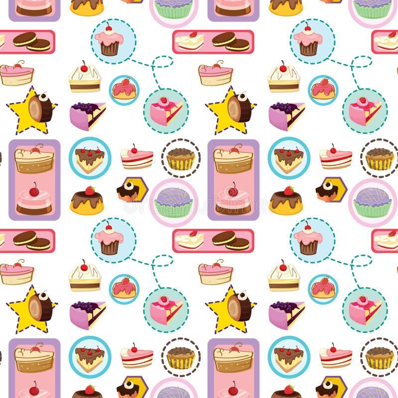 Divers gâteaux illustration de vecteur