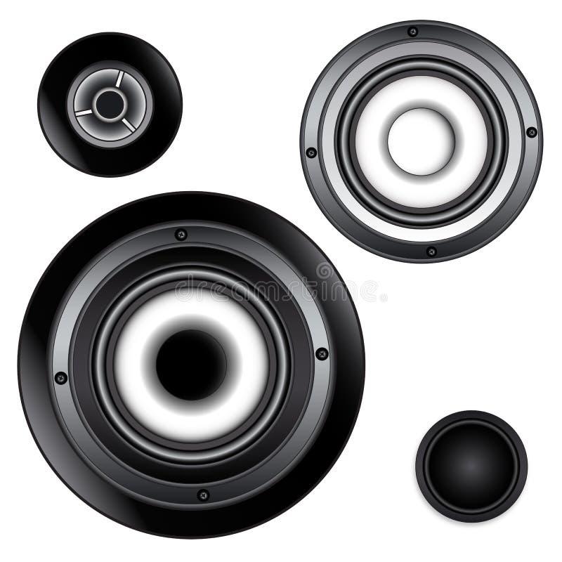Divers gestionnaires sonores illustration libre de droits