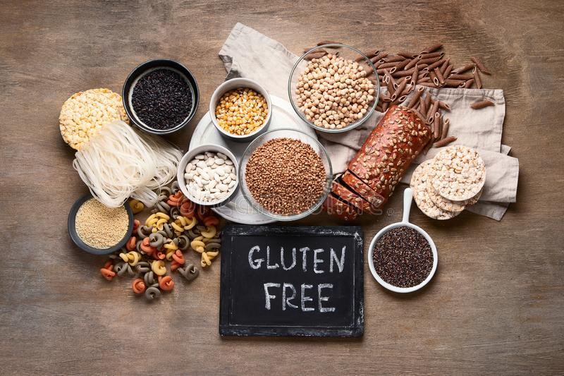 Divers gluten vrij voedsel stock afbeelding