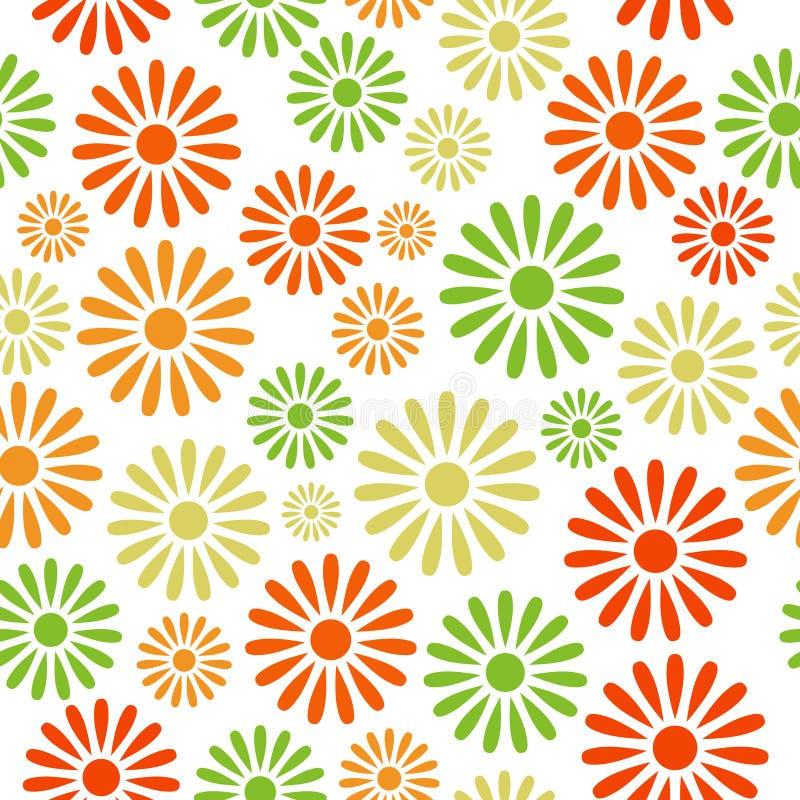 Divers kleurrijk bloemen naadloos patroon stock illustratie