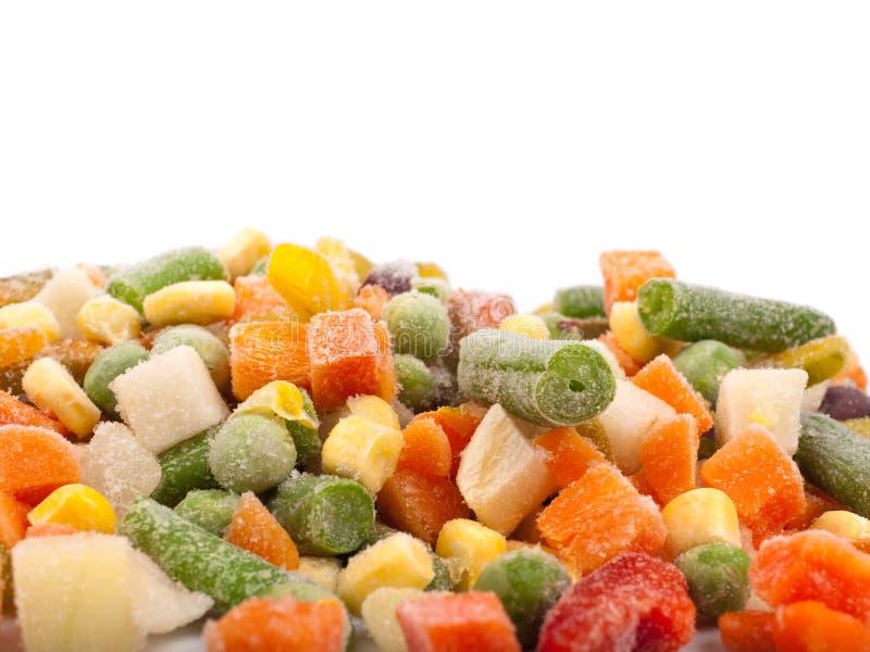 Divers légumes figés images stock