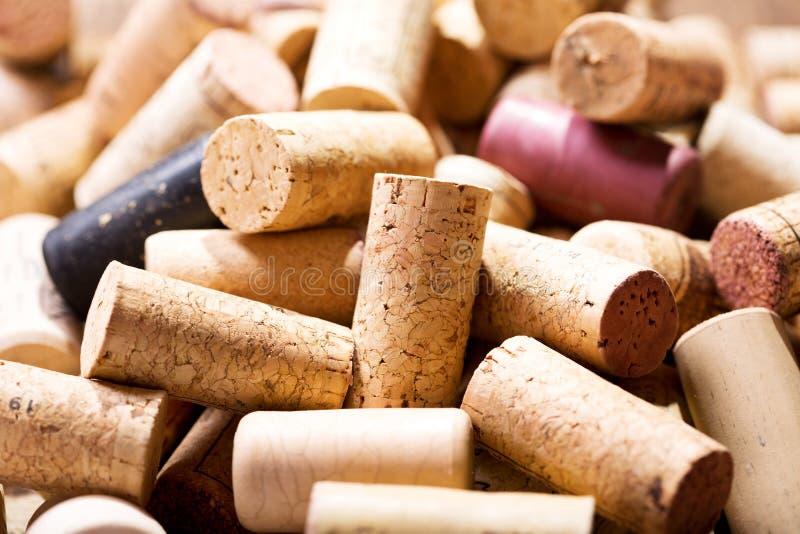 Divers lièges de vin photographie stock