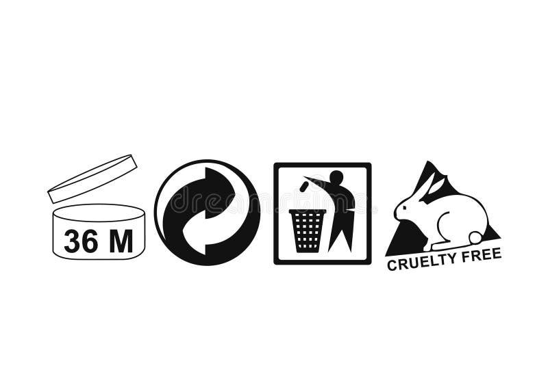 Divers logo pour l'empaquetage illustration stock