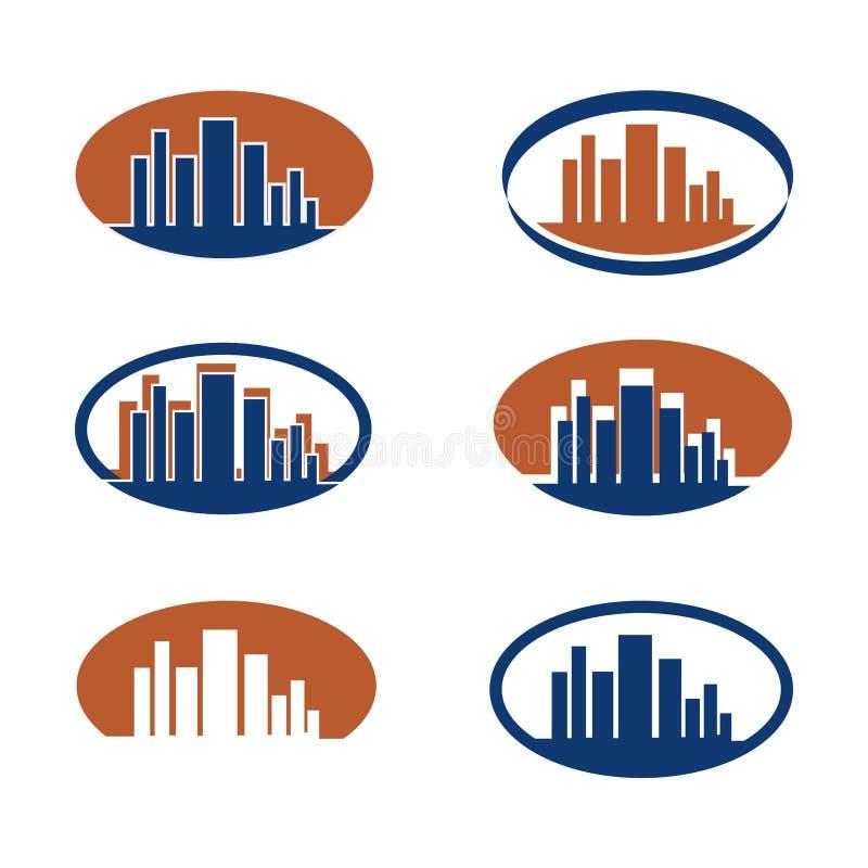 Divers logos d'un bureau illustration libre de droits