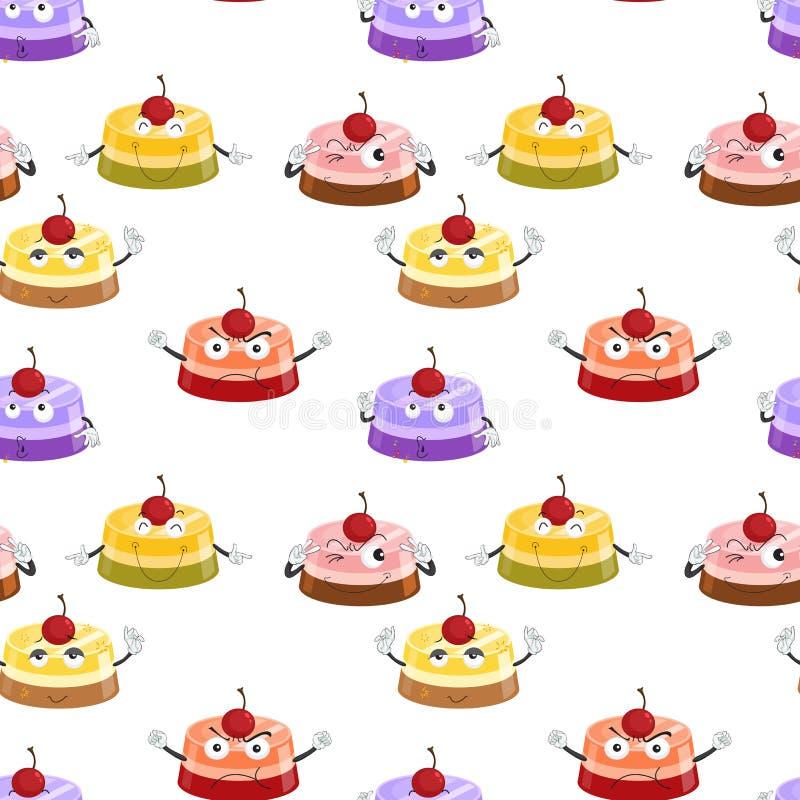 Divers modes de gâteau illustration de vecteur