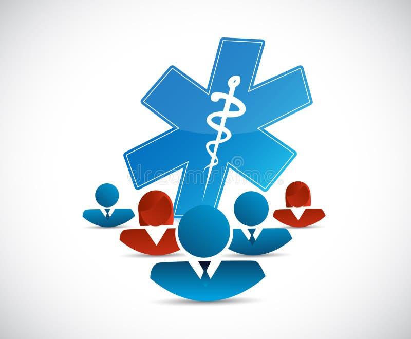 divers netwerk en medisch concept royalty-vrije illustratie