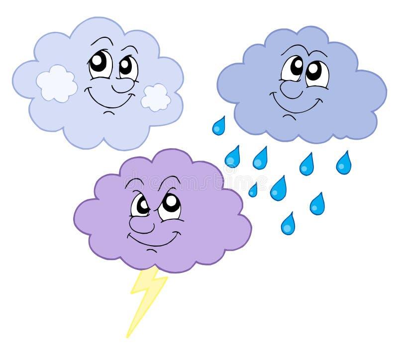Divers nuages mignons illustration de vecteur