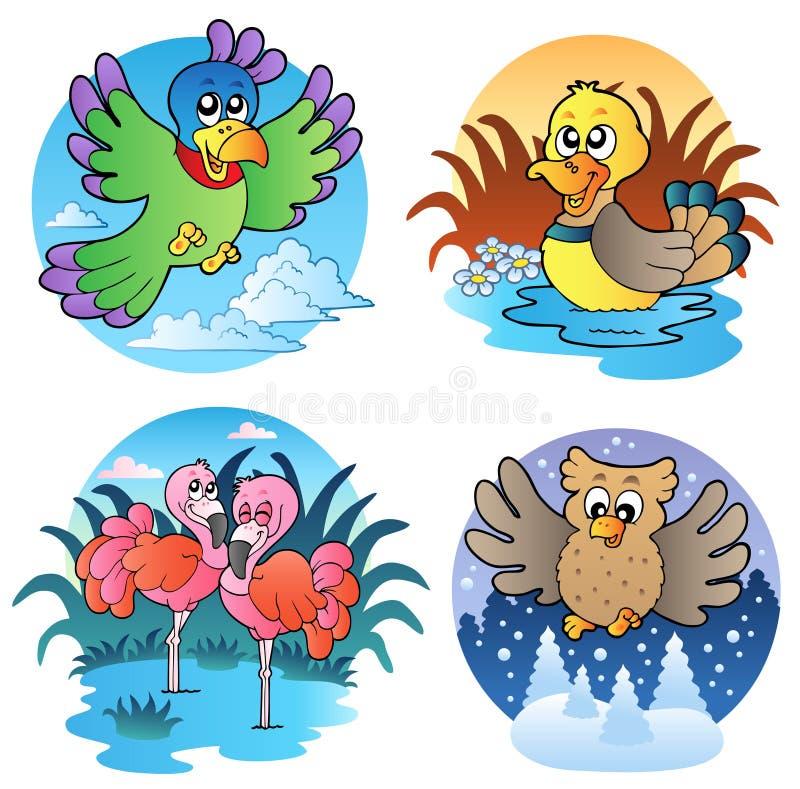Divers oiseaux mignons 1 illustration libre de droits
