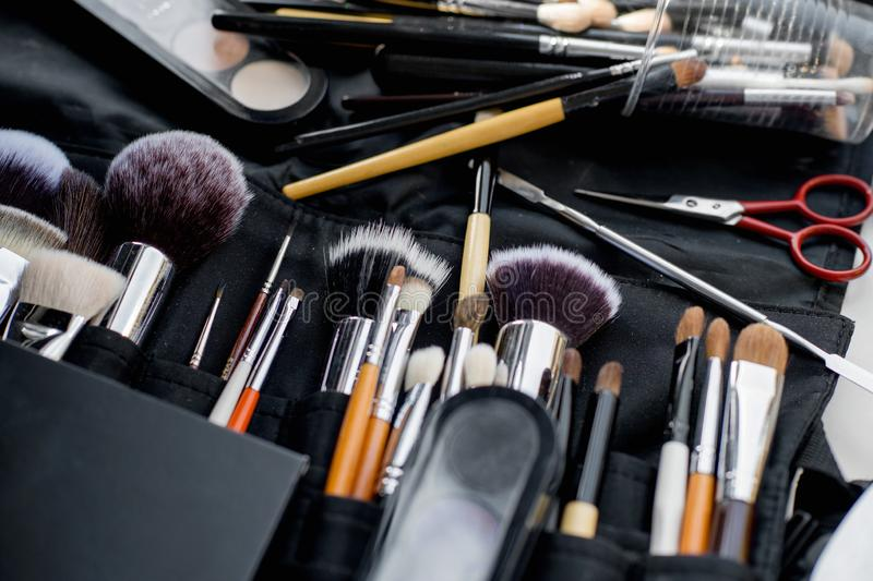 Divers outils de maquillage image stock