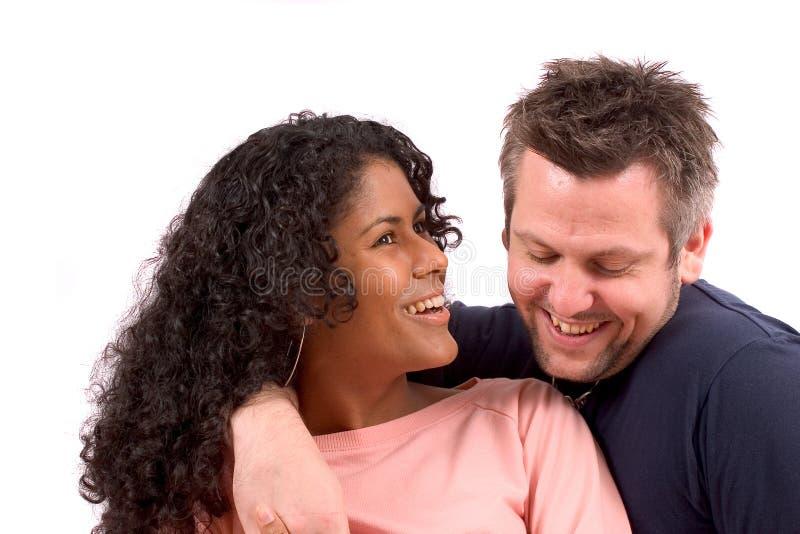 Divers paar; het lachen royalty-vrije stock fotografie