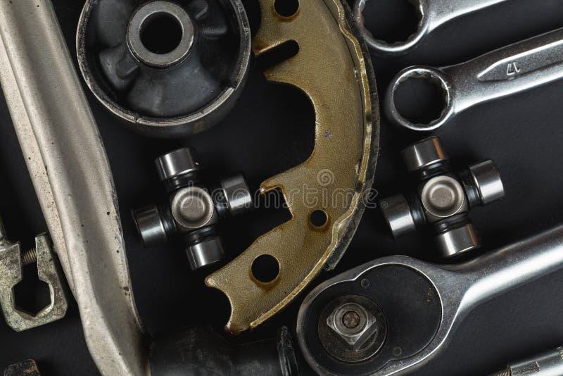 Divers pièces et outils de voiture images stock