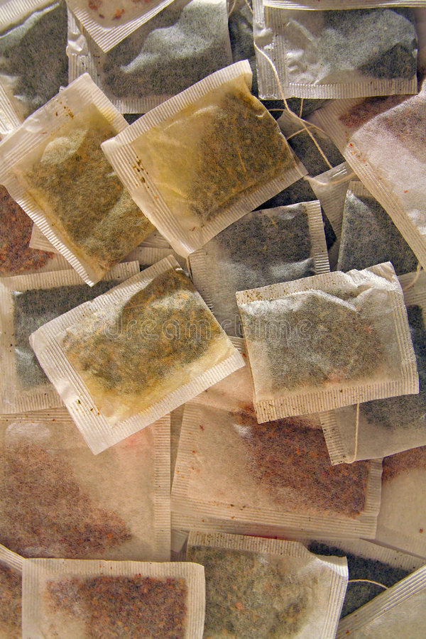 Divers sachets à thé photographie stock