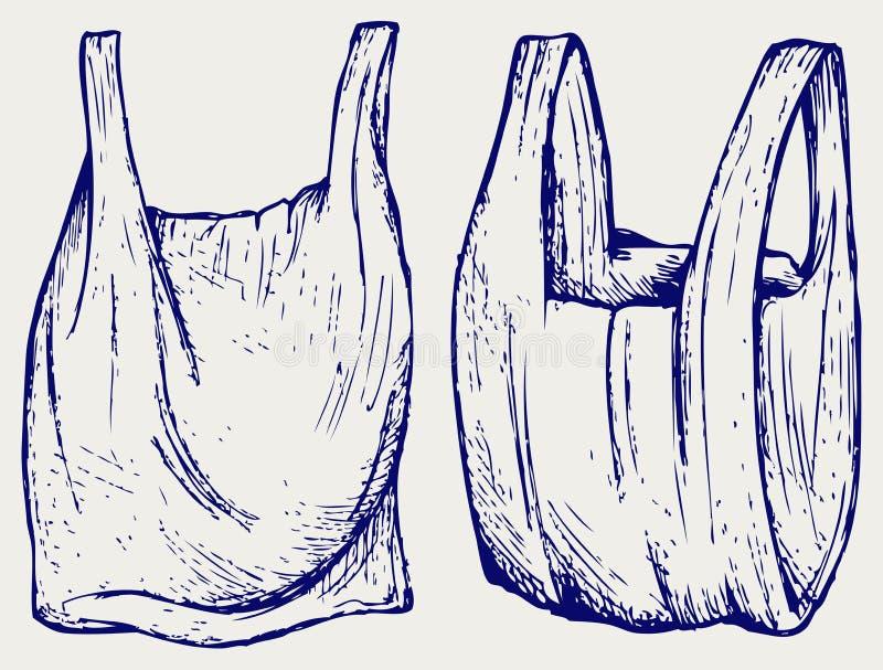 Divers sachets en plastique illustration libre de droits