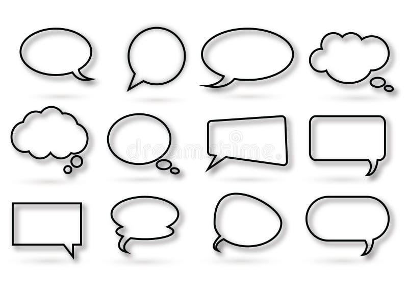 Divers soort praatjebel vector illustratie