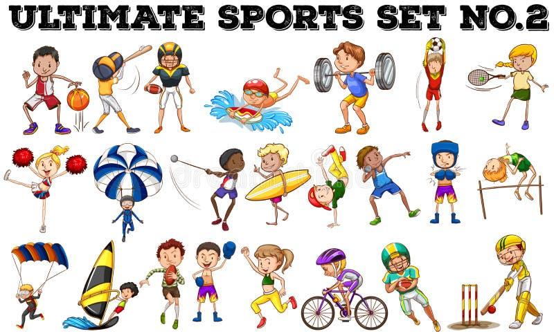 Divers soort sporten royalty-vrije illustratie