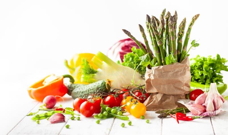Divers types de légumes frais image libre de droits