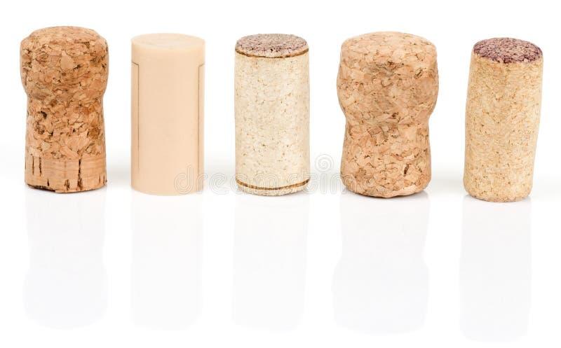 Divers types de lièges de vin photo libre de droits