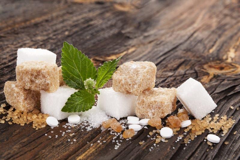 Divers types de sucre images libres de droits