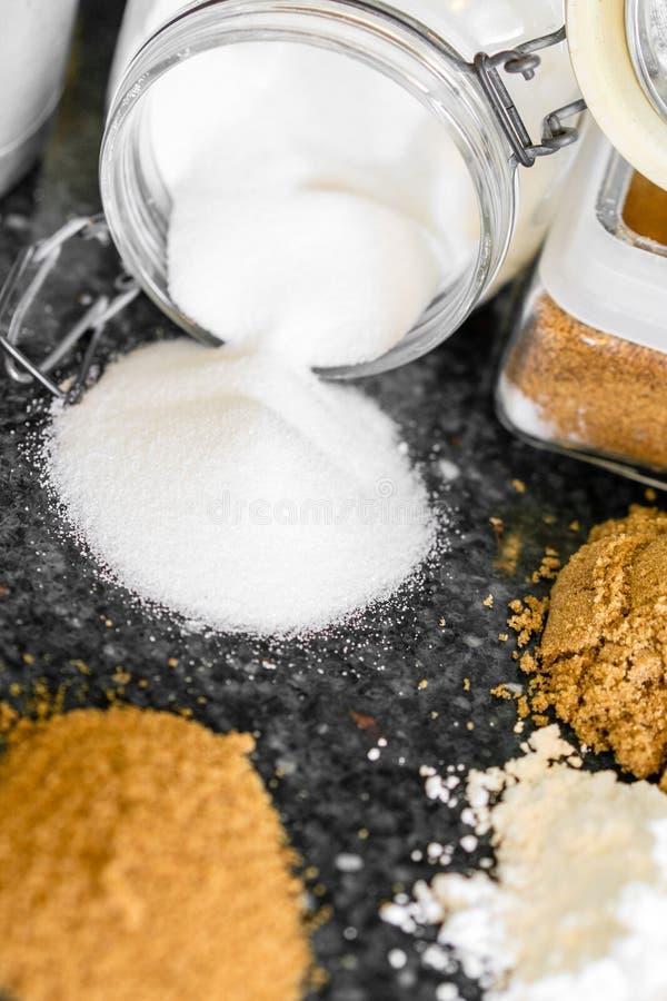 Divers types de sucres image libre de droits