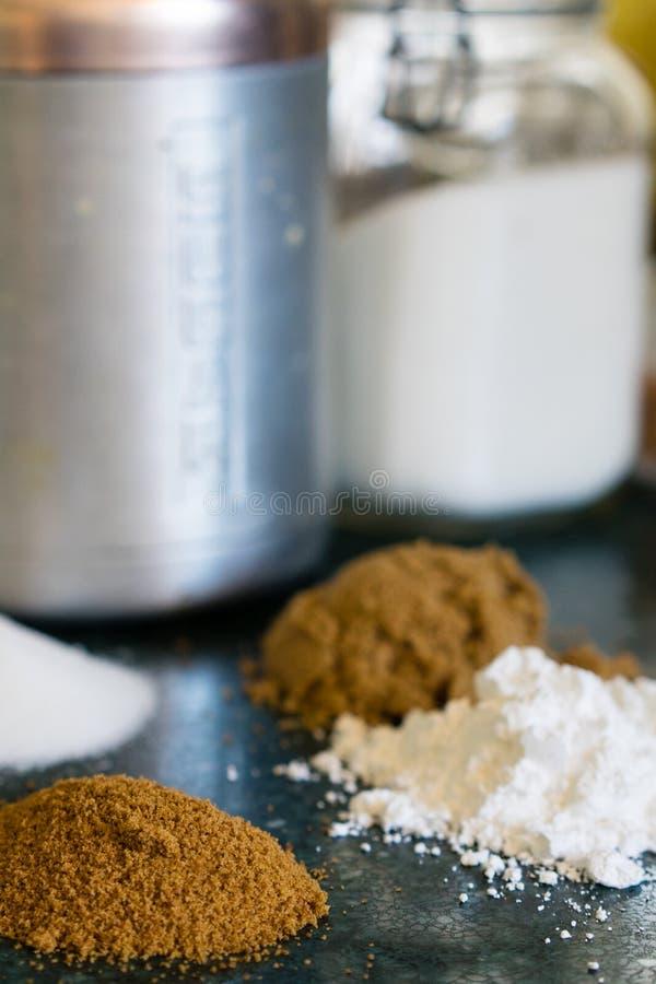Divers types de sucres photos stock