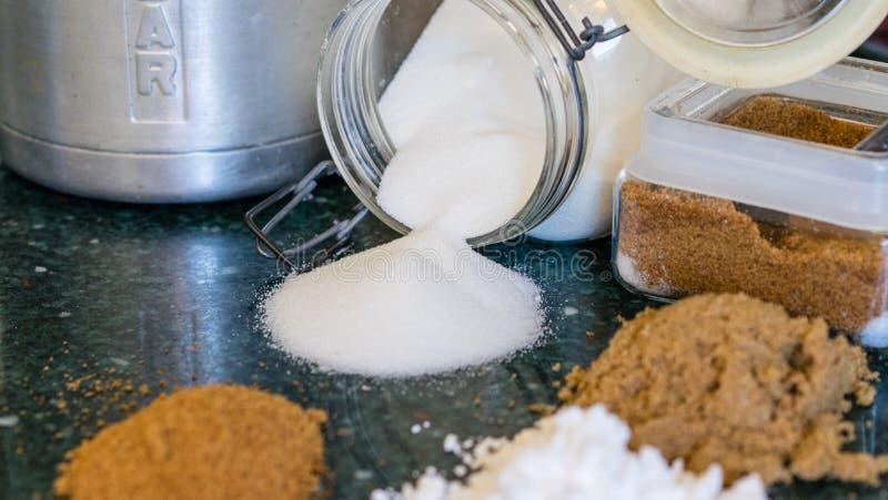 Divers types de sucres photo libre de droits