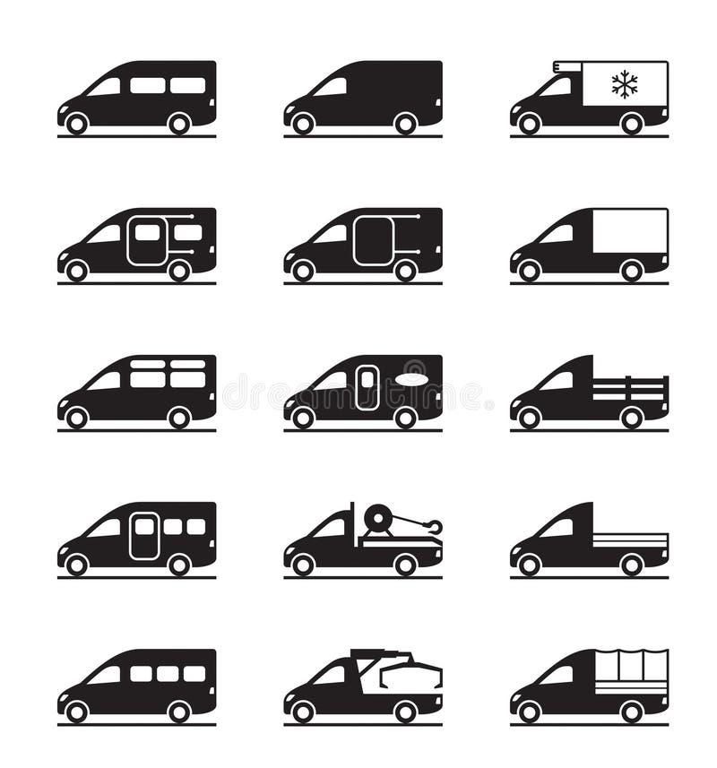 Divers types des fourgons et de collectes illustration stock