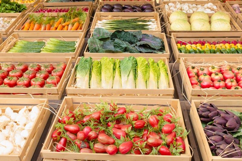 Divers van groente en fruit royalty-vrije stock fotografie