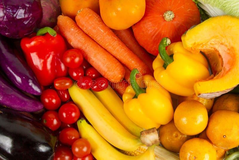 Divers van Verse gemengde vruchten en Groenten stock afbeelding