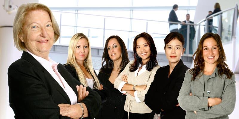 Divers vrouwelijk commercieel team royalty-vrije stock foto