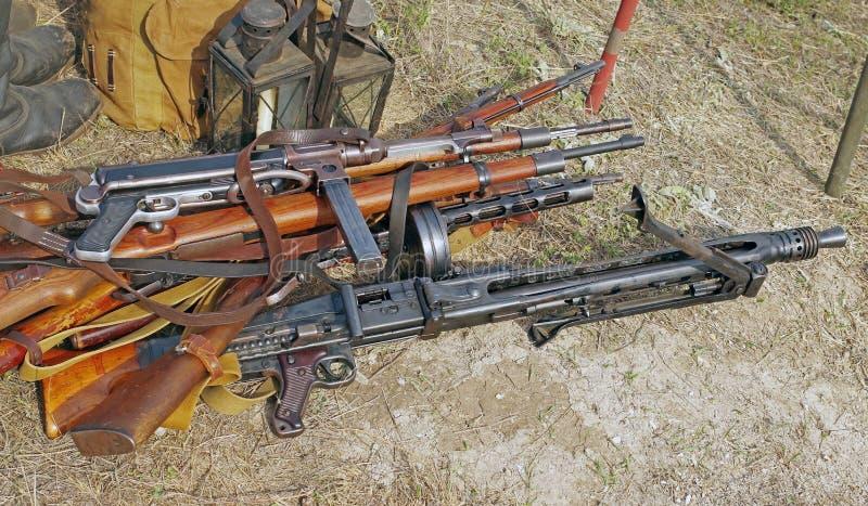 Diversa arma ww2 imágenes de archivo libres de regalías