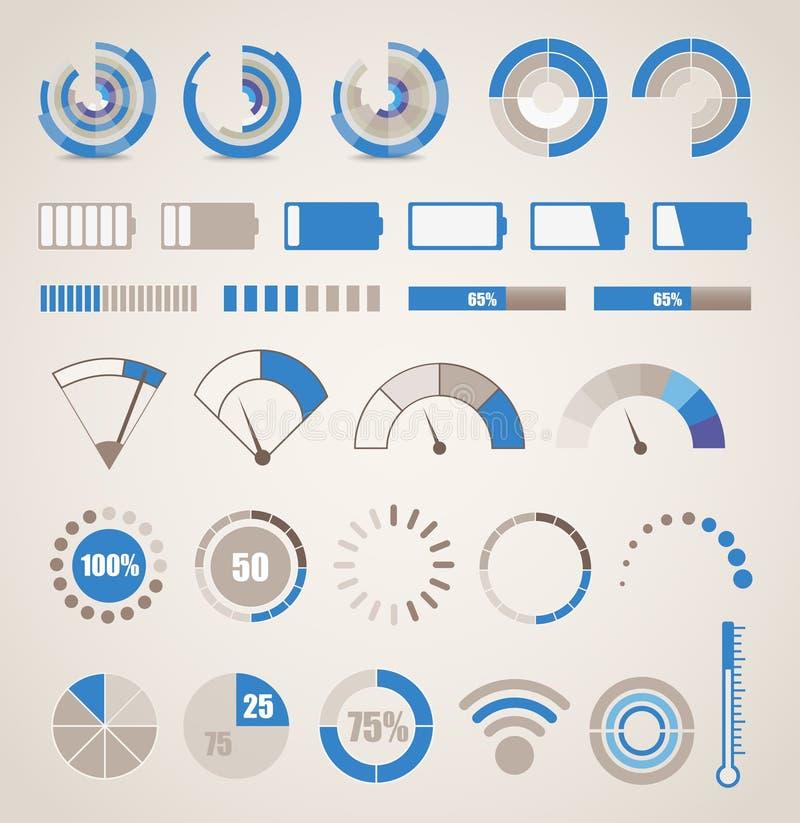 Diversa colección de los indicadores libre illustration
