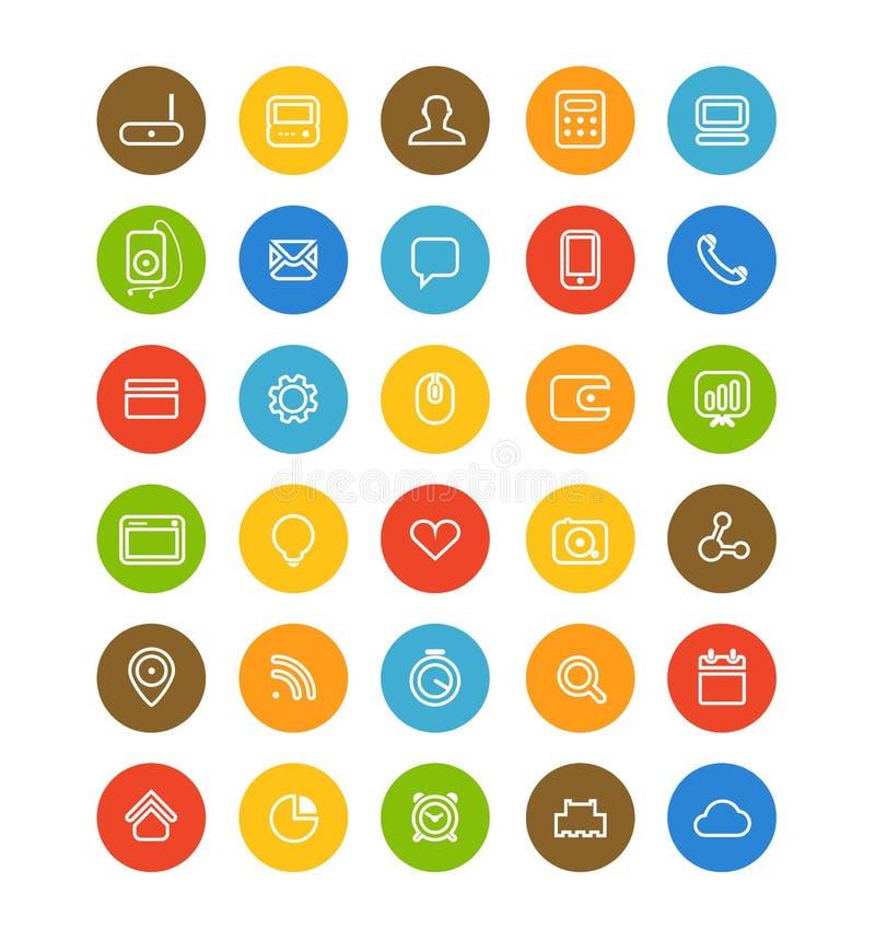 Diversa colección simple de los pictogramas de la navegación del web libre illustration