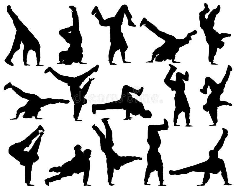 Diversa danza de la silueta libre illustration