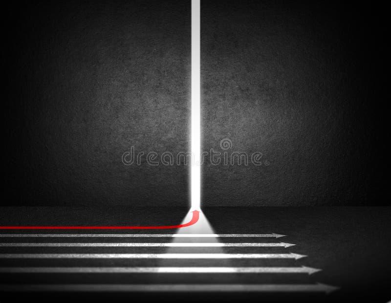 Diversa flecha corrida a las nuevas oportunidades imagenes de archivo