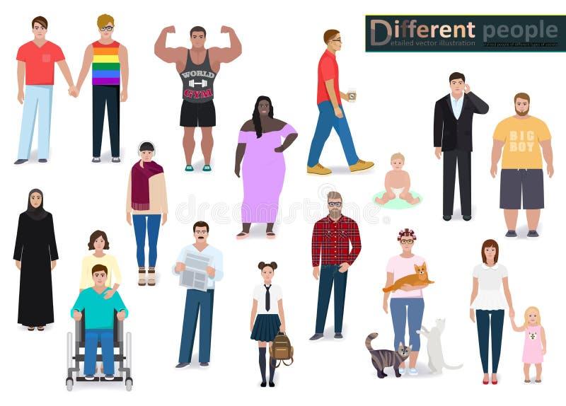 Diversa gente en la sociedad, vector libre illustration
