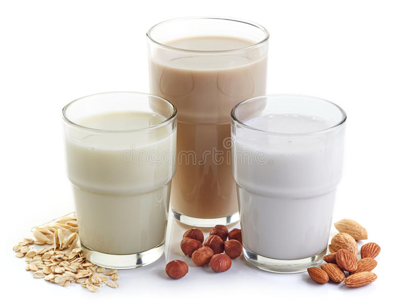 Diversa leche del vegano fotos de archivo libres de regalías