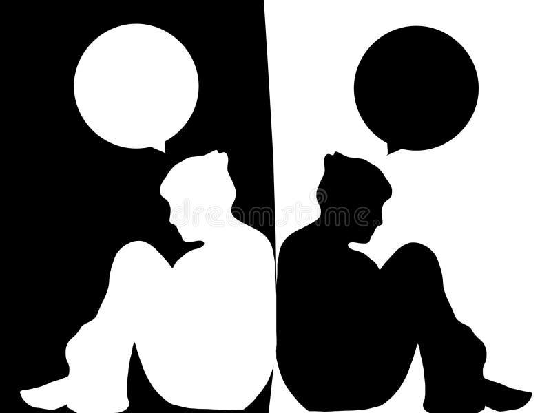 Diversa opinión ilustración del vector