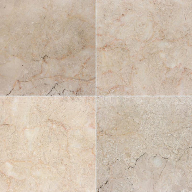 Diversa textura cuatro de un mármol ligero y oscuro (Alto res ) fotografía de archivo