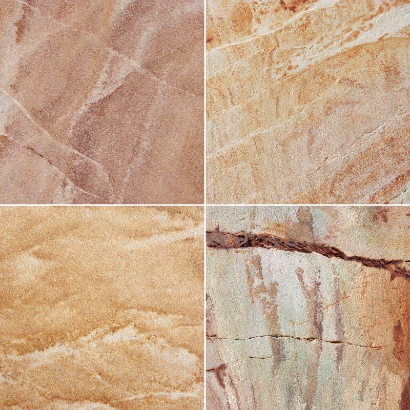 Diversa textura del granito cuatro (Alto res ) imagen de archivo libre de regalías