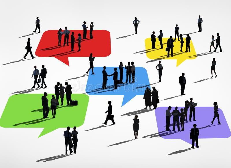 Diversas actividades de hombres de negocios stock de ilustración