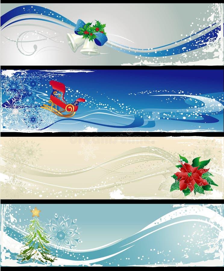 Diversas banderas de la Navidad libre illustration